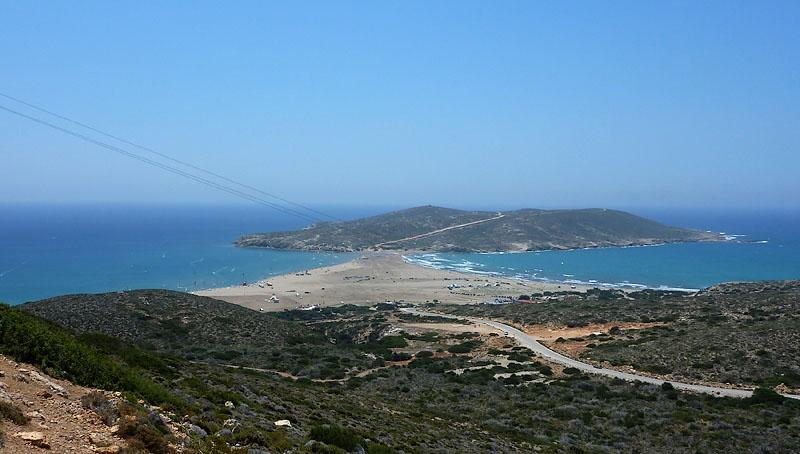 Поцелуй двух морей - отзыв о Prasonisi, Каттавия, Греция